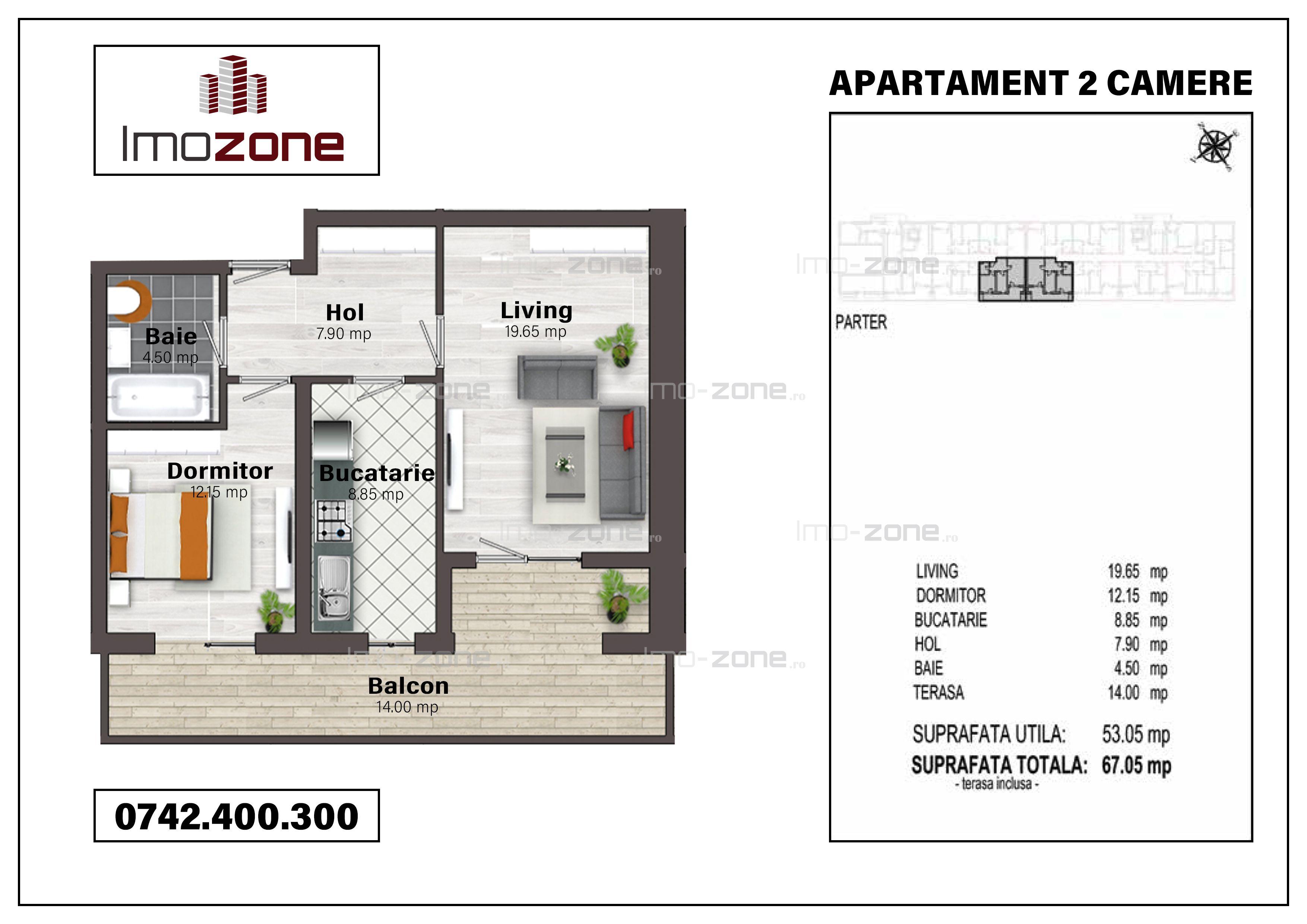 Militari, langa metrou Pacii, 2 camere + terasa 14 mp, proiect nou, 300 m STB