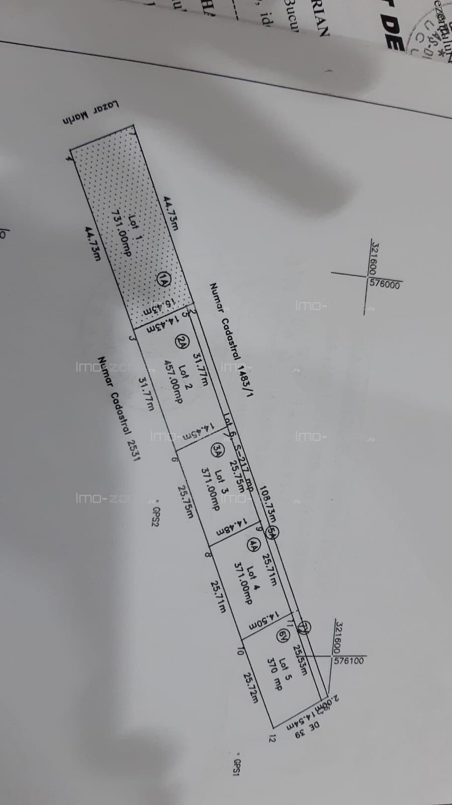 Bragadiru, teren 731 mp, pentru casa,intravilan