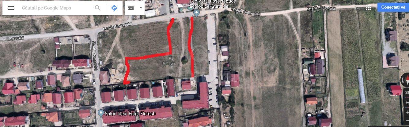 Vanzare teren 1800 mp, 68 euro/mp, Floresti