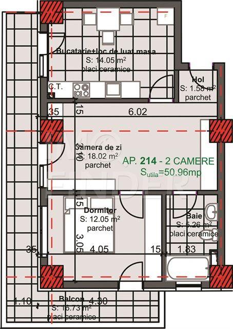 Vanzare 2 camere Marasti, imobil nou, garaj inclus in pret