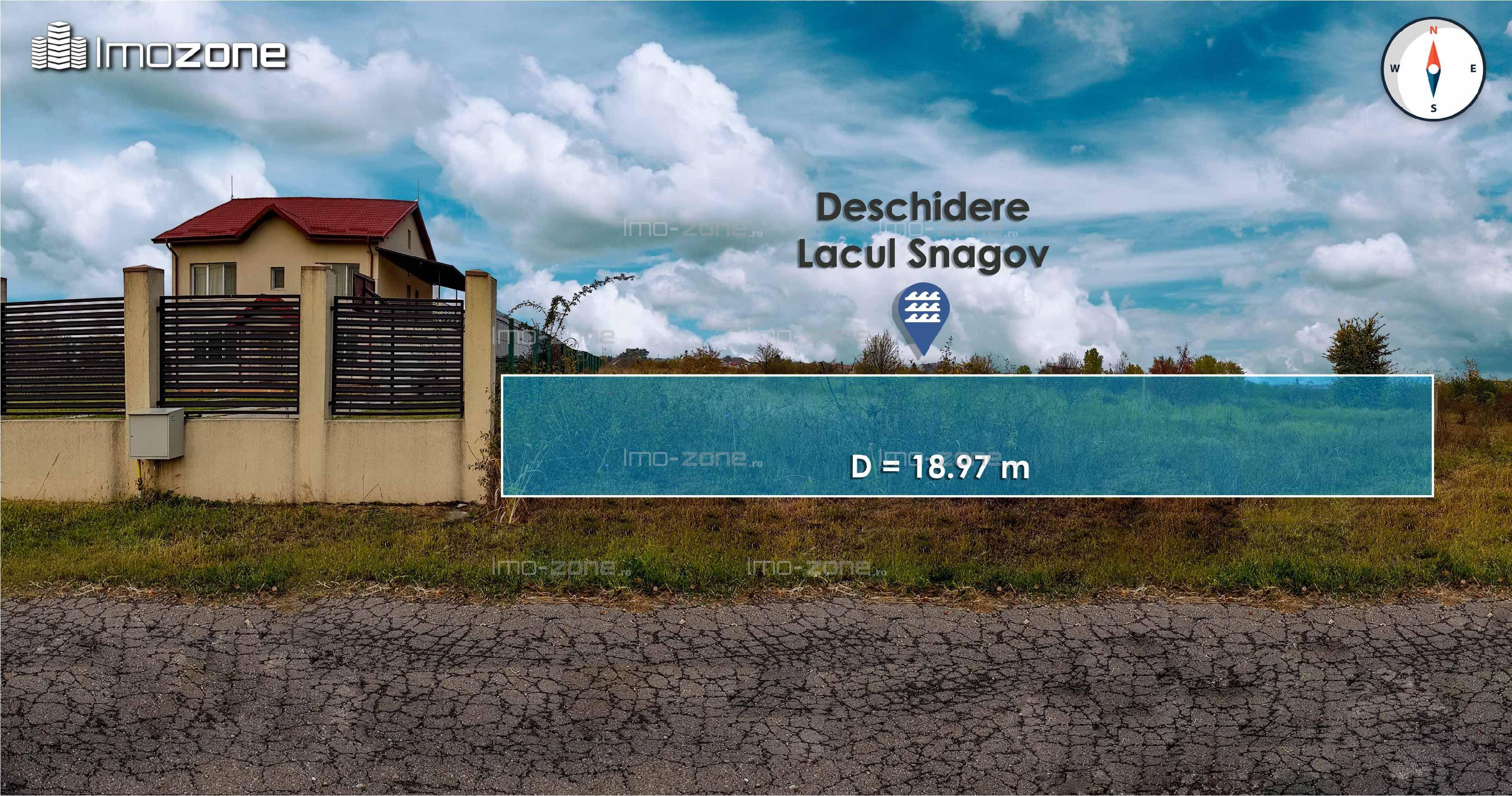 3,700 mp. liber, deschidere superba la LACUL SNAGOV - zona VLADICEASCA