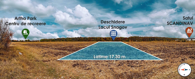 3,849 mp. liber, deschidere superba la LACUL SNAGOV - GHERMANESTI