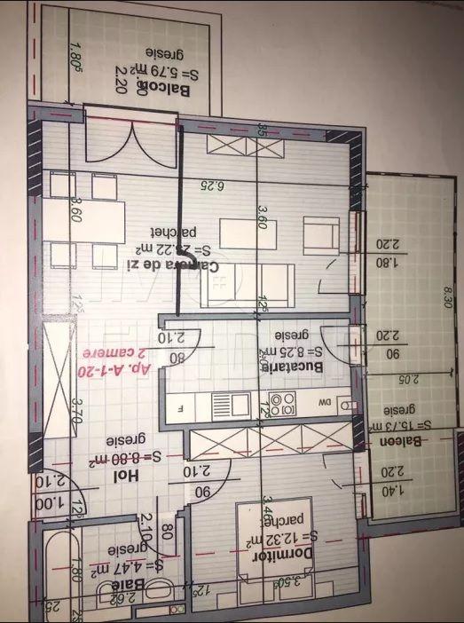 Apartament cu 2 camere de vanzare zona Central, imobil nou