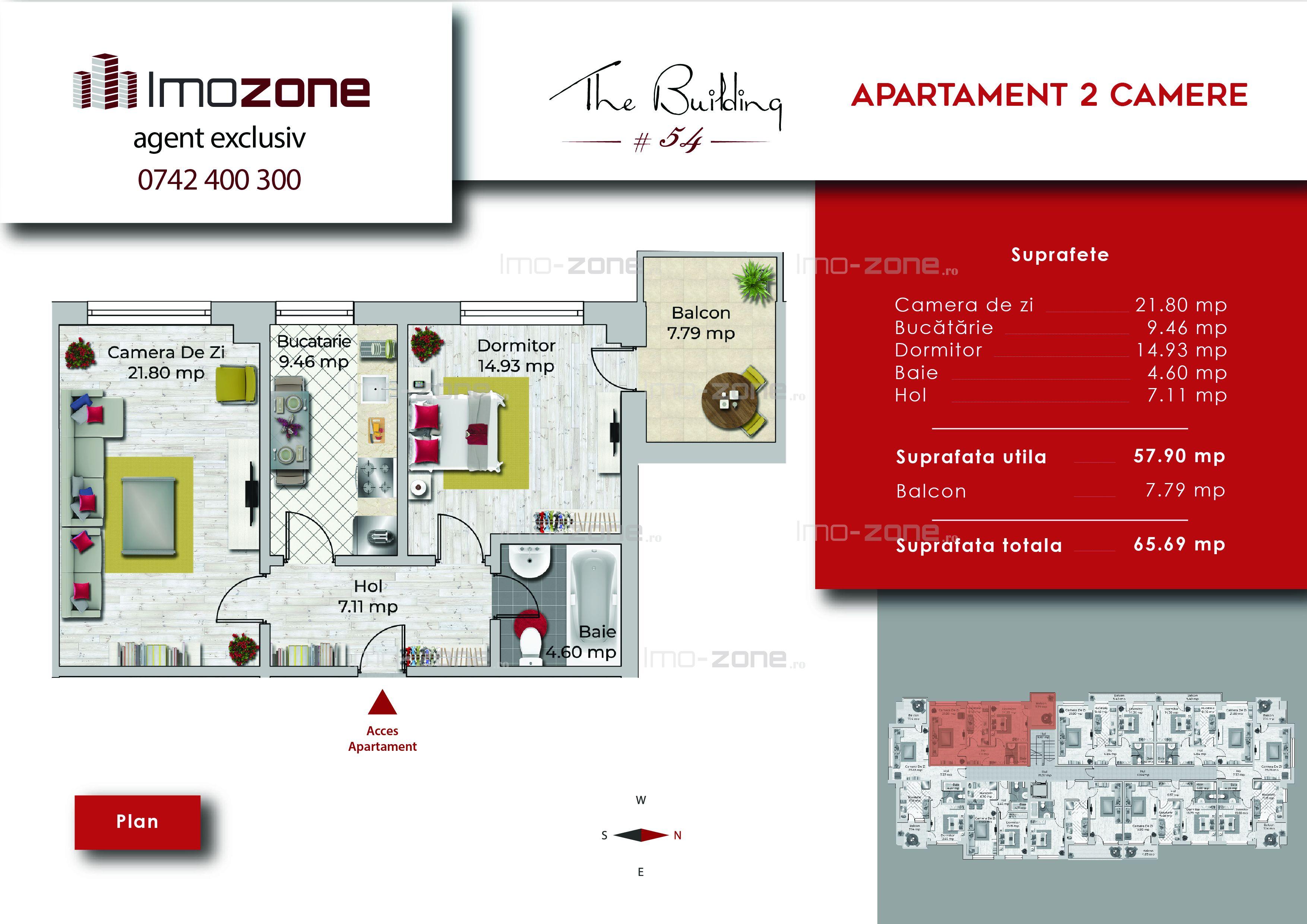 Apartament 2 camere, 66 mp, decomandat, comis 0%, Miltari - Uverturii.
