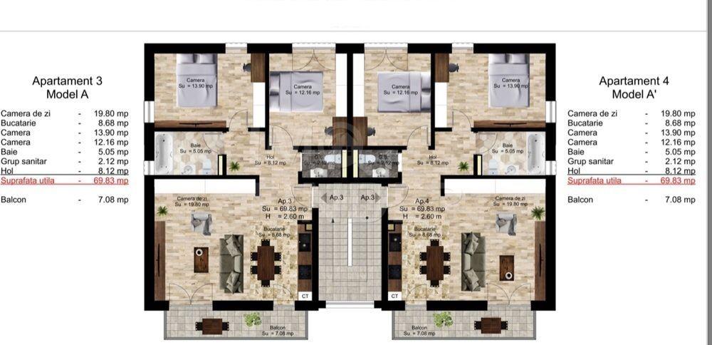 Vanzare 3 camere imobil tip vila, Manastur, zona Campului