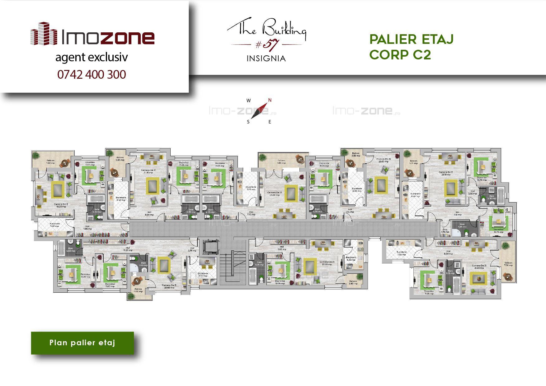 Militari - Pacii 2 camere, etajul 4, finisat complet, comision 0% !!!