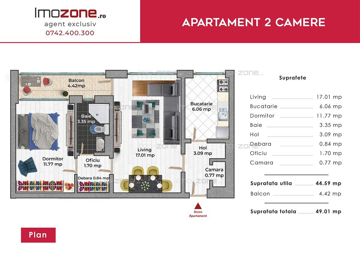 Apartament 2 camere Drumul Taberei- Plaza