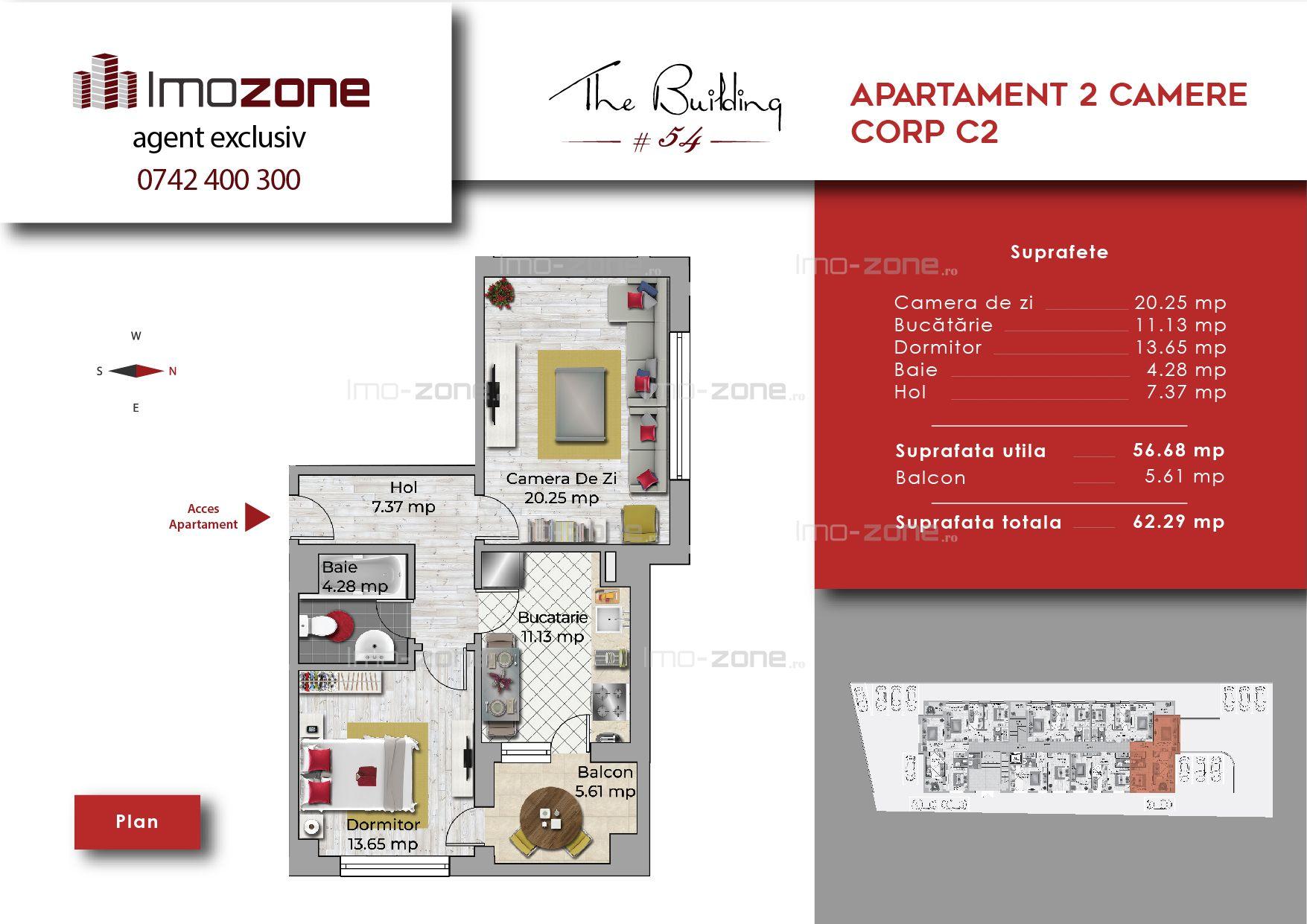 Apartament 2 camere decomandat, bucatarie inchisa,spatios, Militari-Uverturii