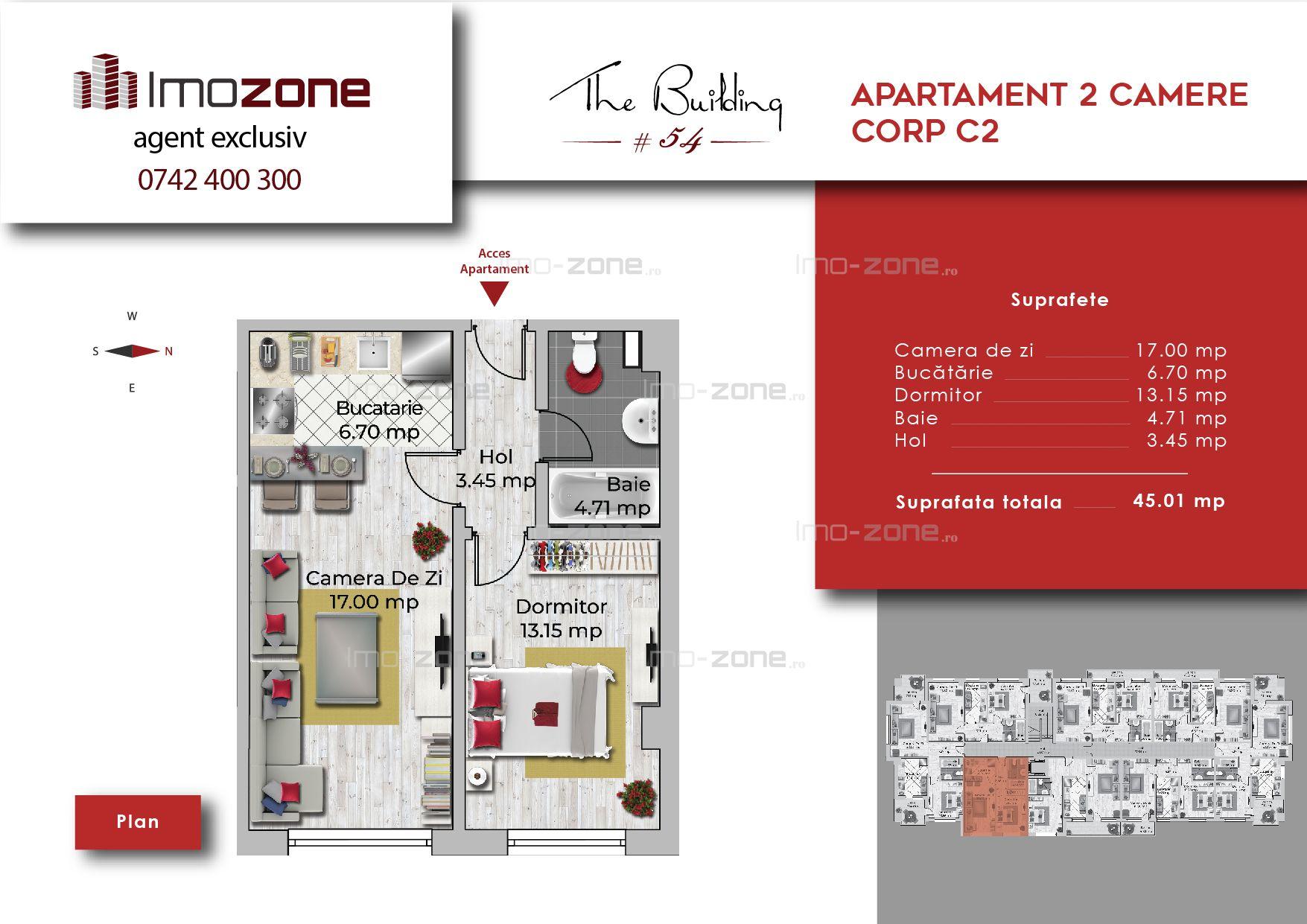 Apartament 2 camere semidecomandat, Militari-Uverturii, COMISION 0%