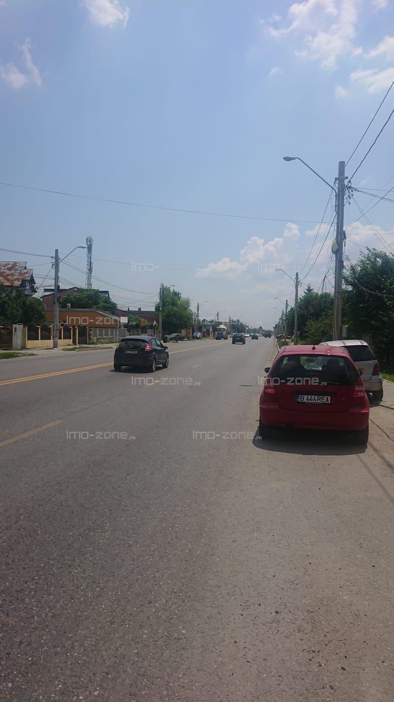 Teren stradal Jilava, 1000 mp, deschidere 7,5 m.