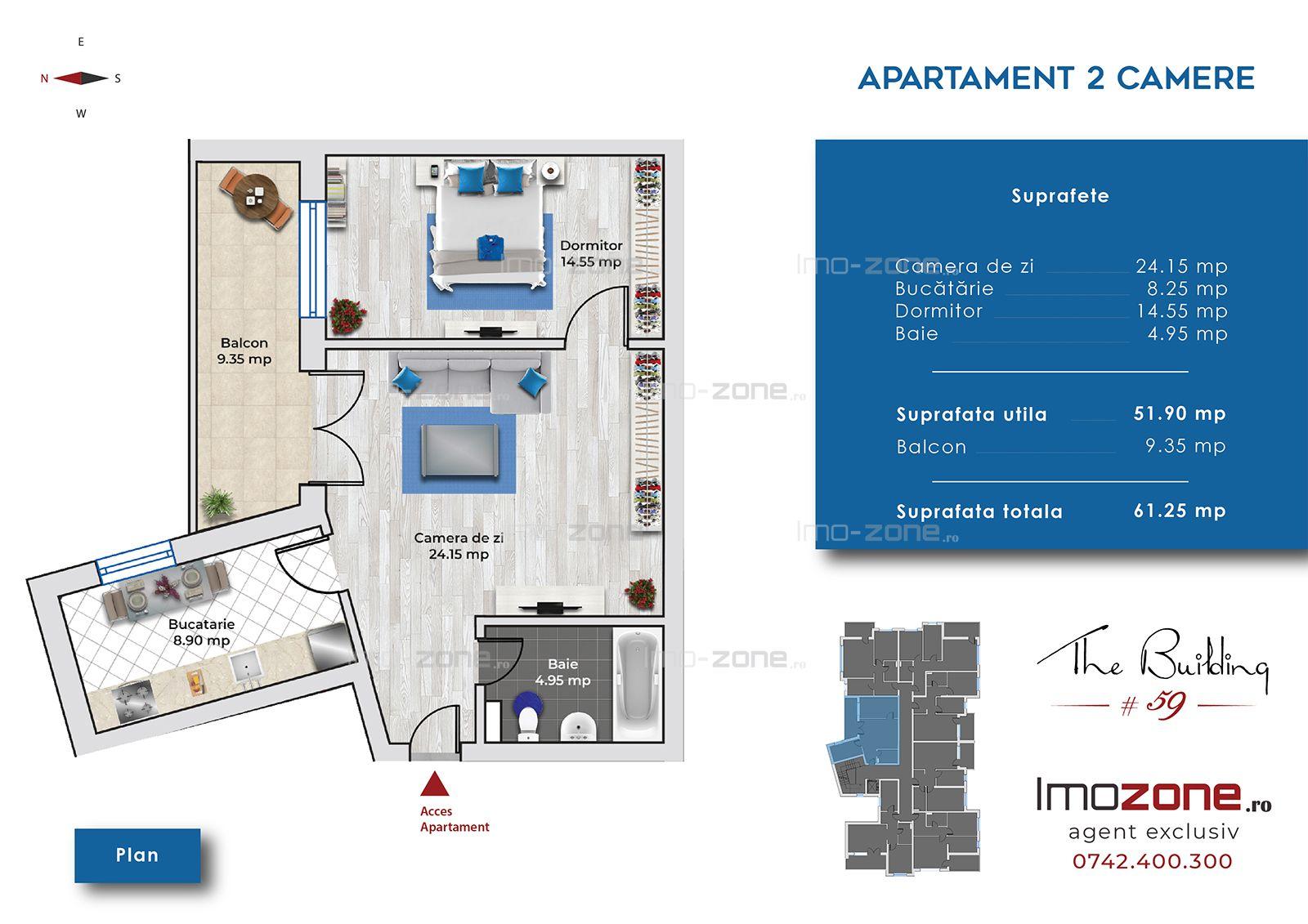Apartament NOU, Living de 24 mp, Dormitor de 14 mp, BUCATARIE INCHISA, METROU