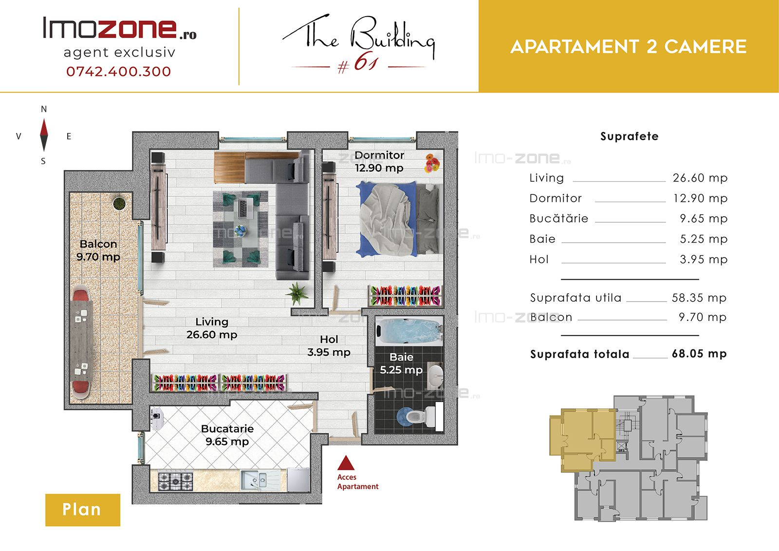 Apartament 2 camere, langa PLAZA MALL, decomandat, spatios, bucatarie inchisa