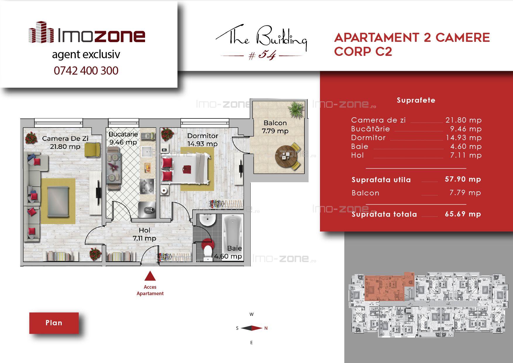 Apartament 2 camere decomandat, bucatarie inchisa, spatios, Militari-Uverturii