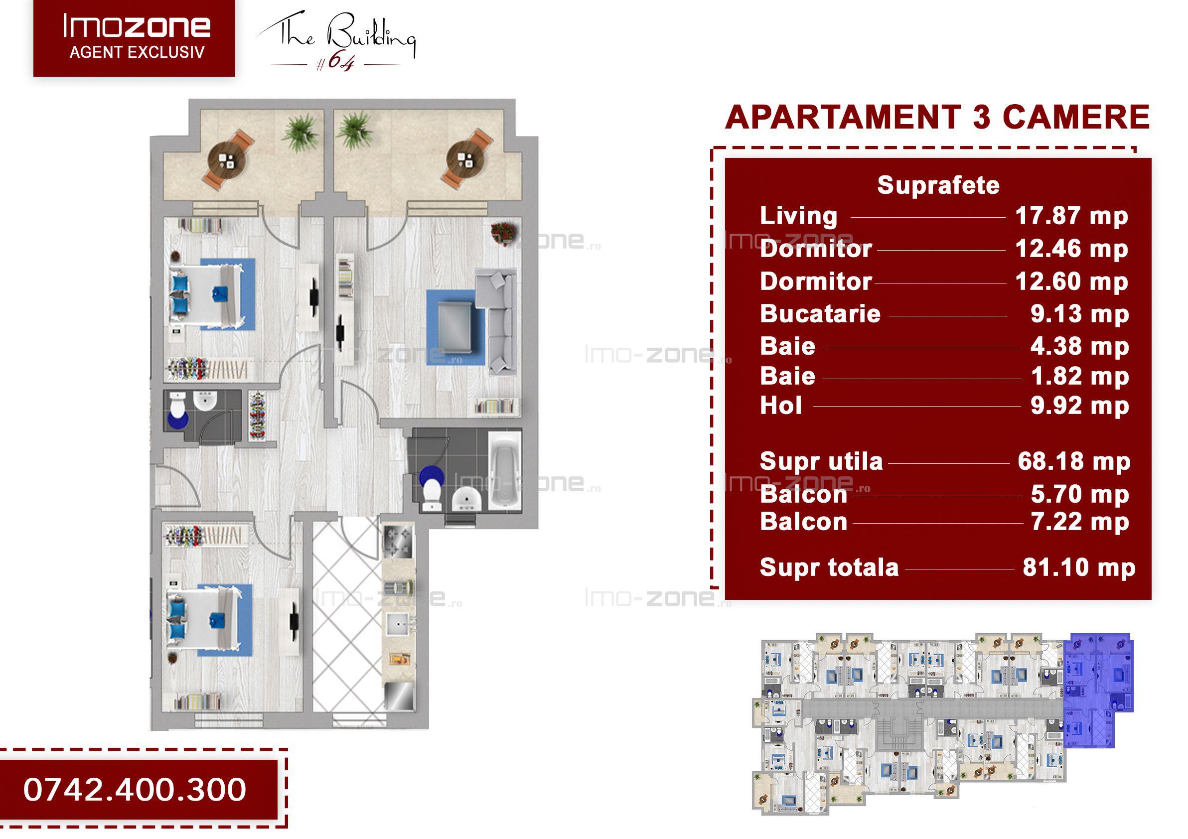 Apartament 3 camere Drumul Taberei Valea Doftanei ANL Brancusi, finisat la cheie