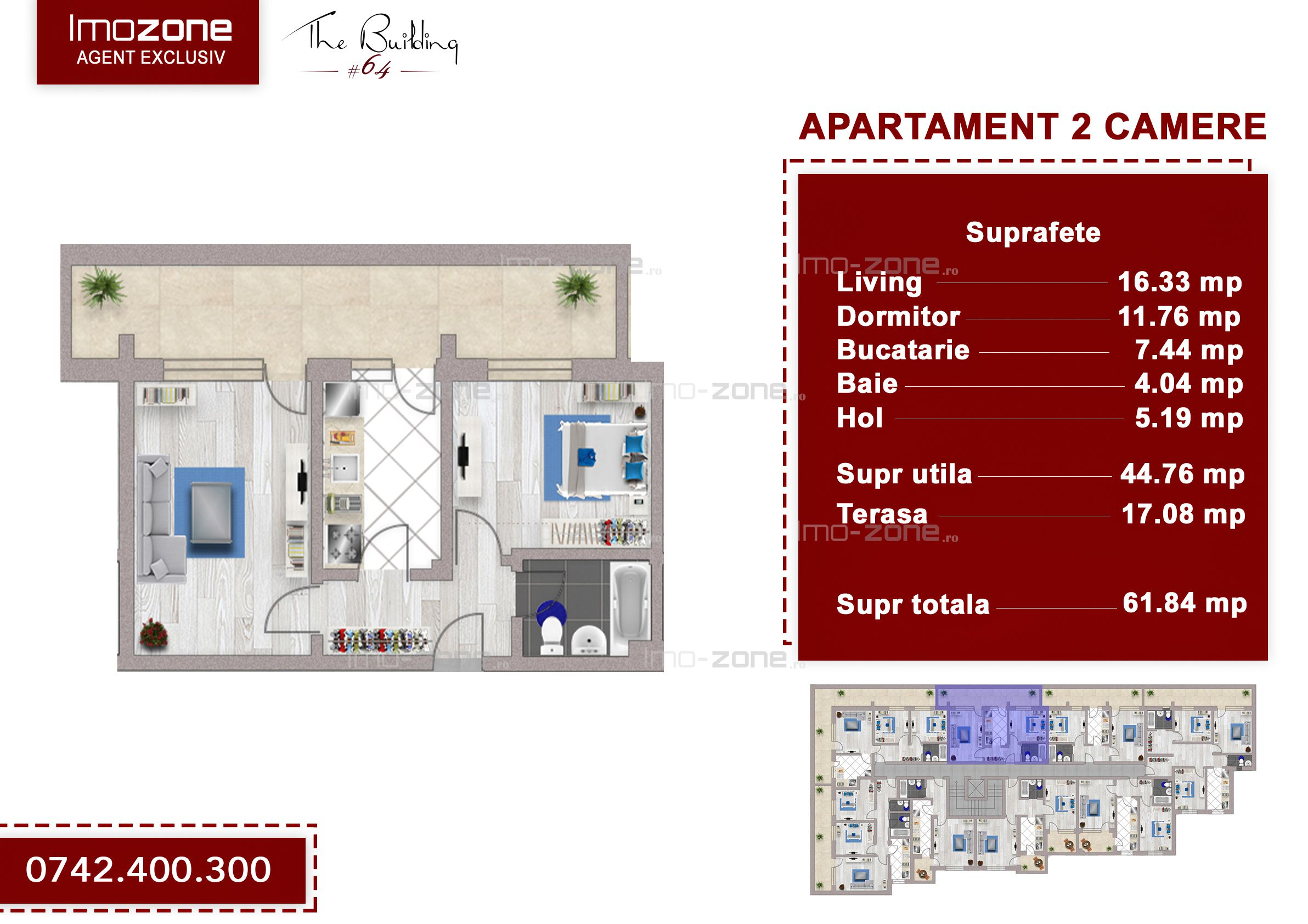 Apartament 2 camere + terasa 17 mp, Drumul Taberei, Valea Doftanei, ANL Brancusi