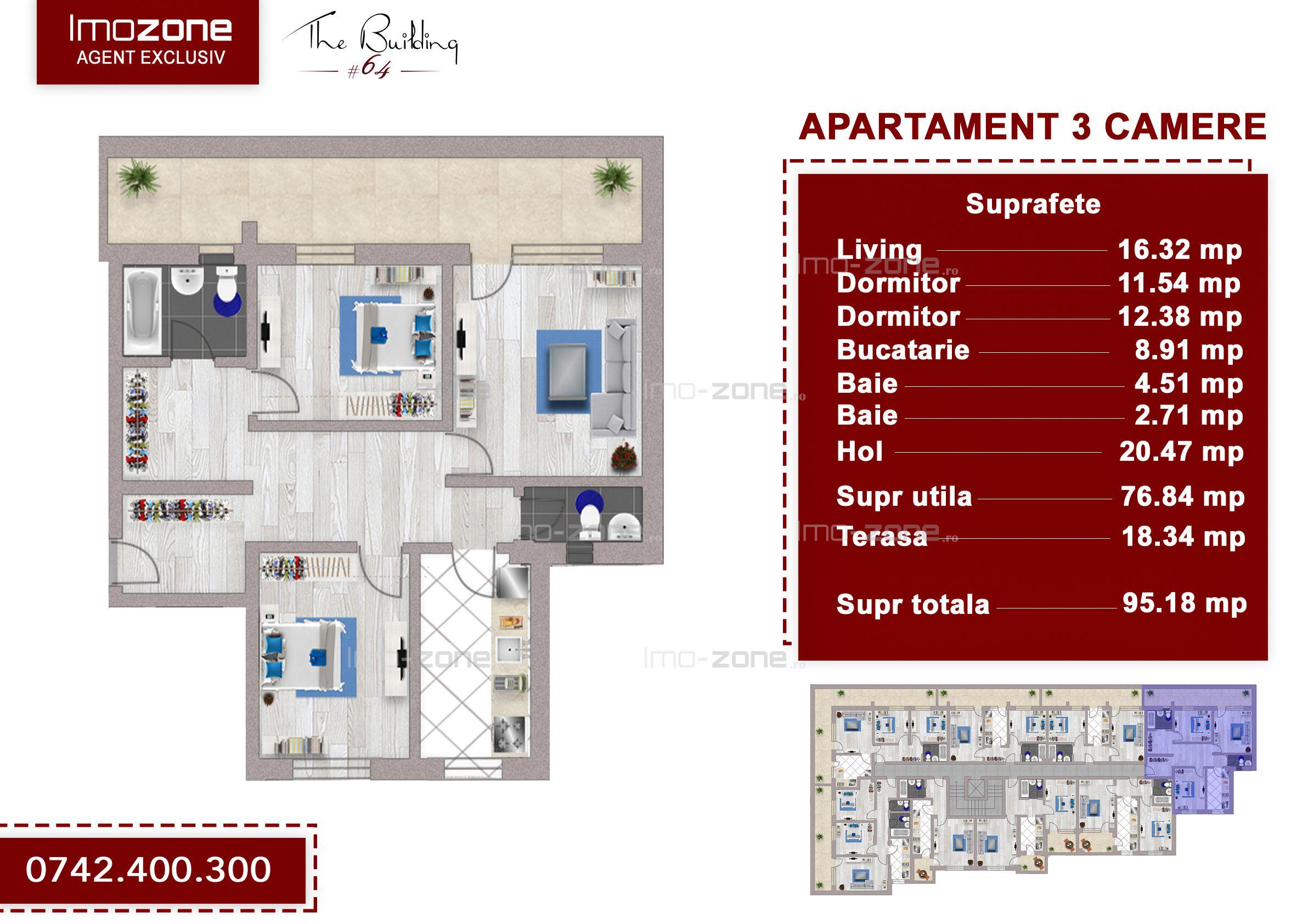 Apartament 3 camere +  terasa 18mp, Drumul Taberei, Valea Doftanei, ANL Brancusi