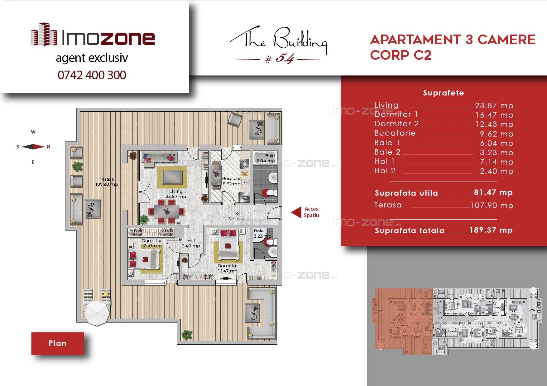 Apartament 3 camere decomandat - spatios, bucatarie inchisa, Militari-Uverturii