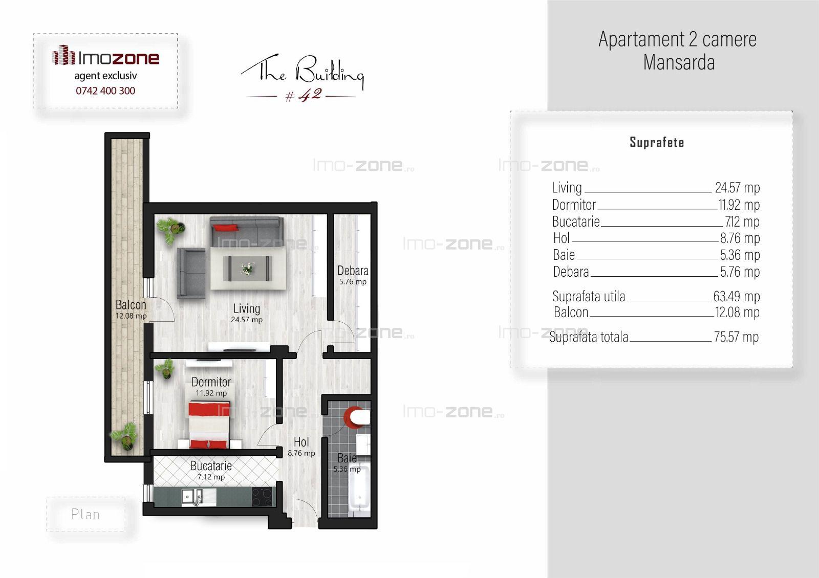 Apartament 2 camere, 75 mp, finalizat, Prel. Ghencea, comision 0%, plata cash