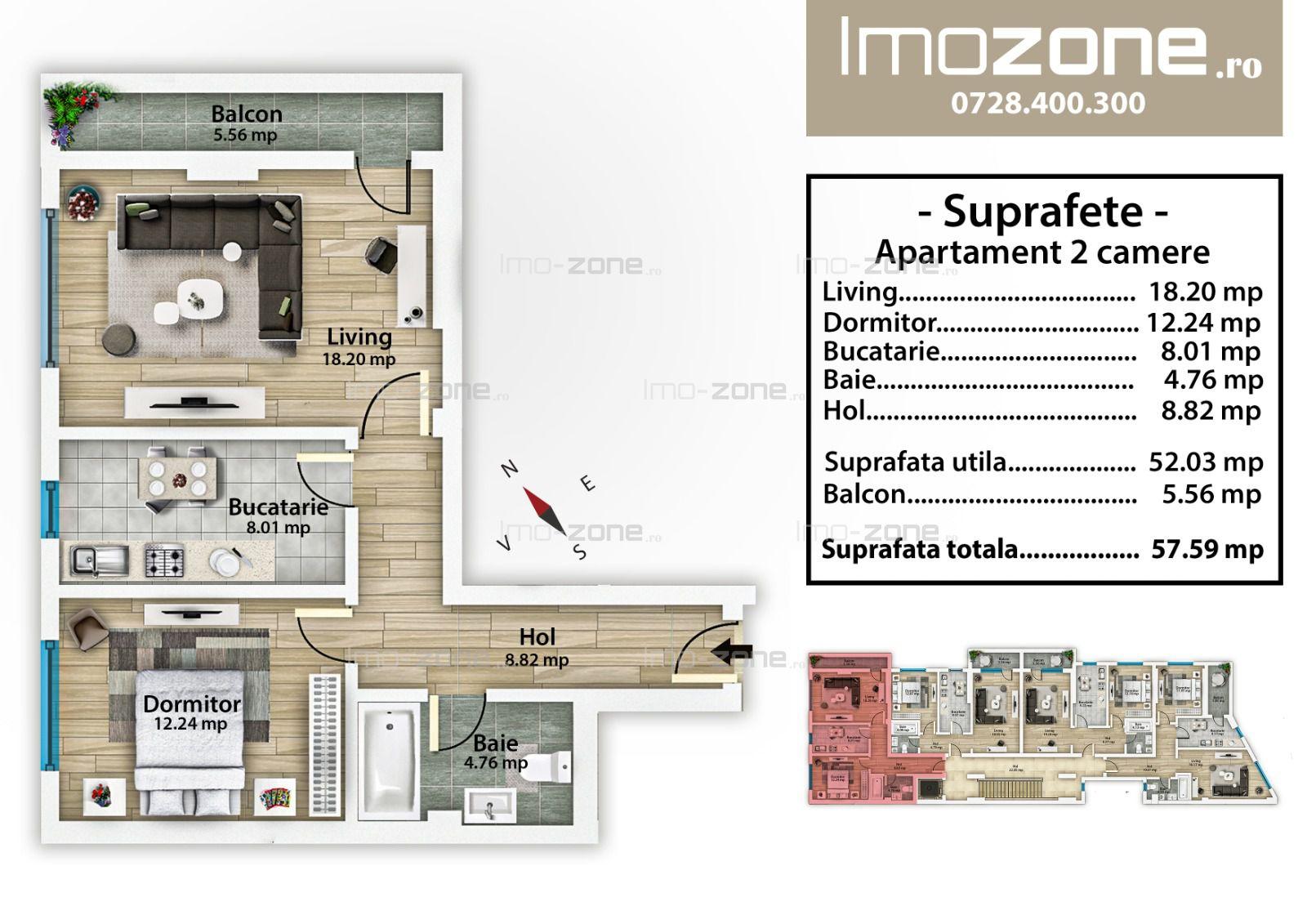 Mall Plaza, 2 camere, decomandat, etaj 3, bucatarie inchisa, balcon, 8min metrou