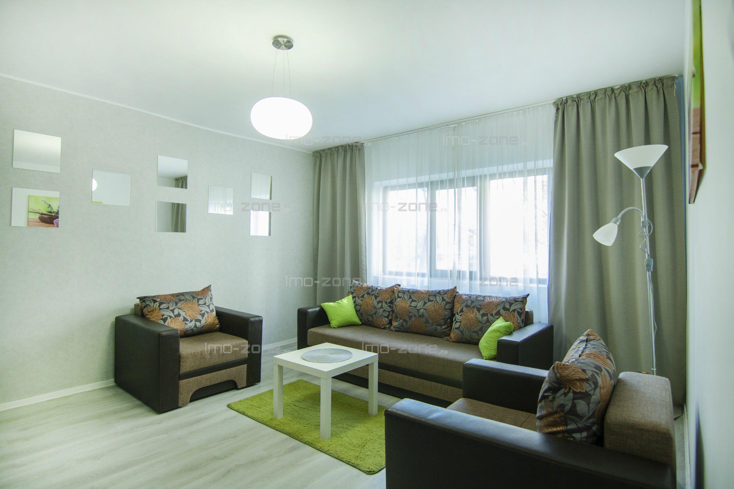 COMISION 0%, apartament cu 2 camere, decomandat, complet mobilat, geam la baie