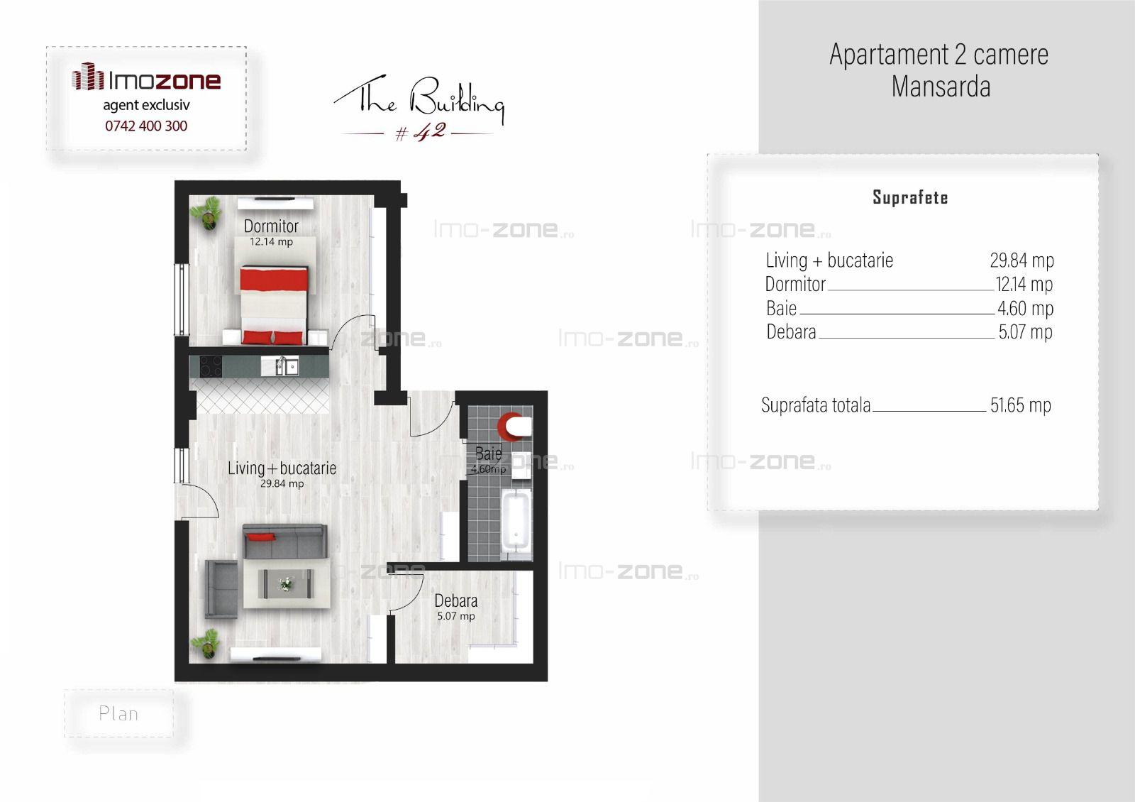 Apartament 2 camere, 51 mp, finalizat, Prel. Ghencea, comision 0%, plata cash